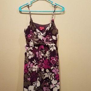 Elle Dresses - Elle purple floral dress size 8